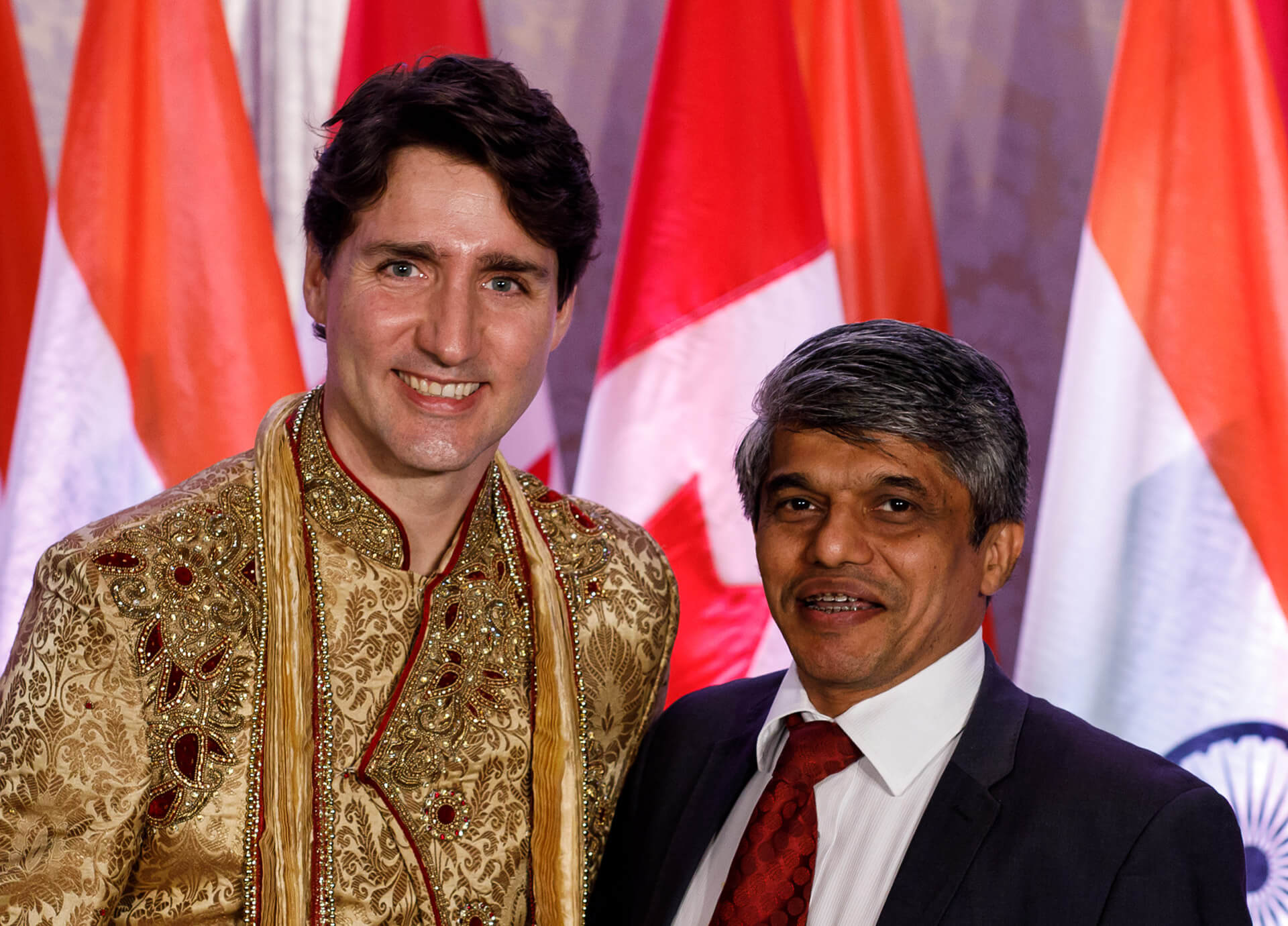Canadian PM Trudeau with Gireendra Kasmalkar